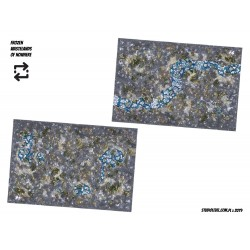 """DOUBLE-SIDED: 72""""x48"""" TOURNAMENT GAME MAT (6'x4')"""